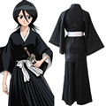 Hot New Free Shipping Bleach Anime Black&White Shinigami Kimono Cosplay Costume Anime Products