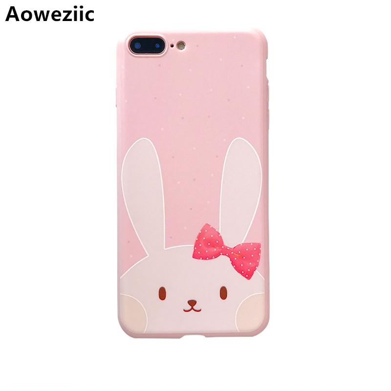 Aoweziic Sveglio del fumetto Per iphoneX coperture del telefono mobile rosa 7 più il manicotto di protezione 6 S soft shell femminile gel di silice 8 Plus