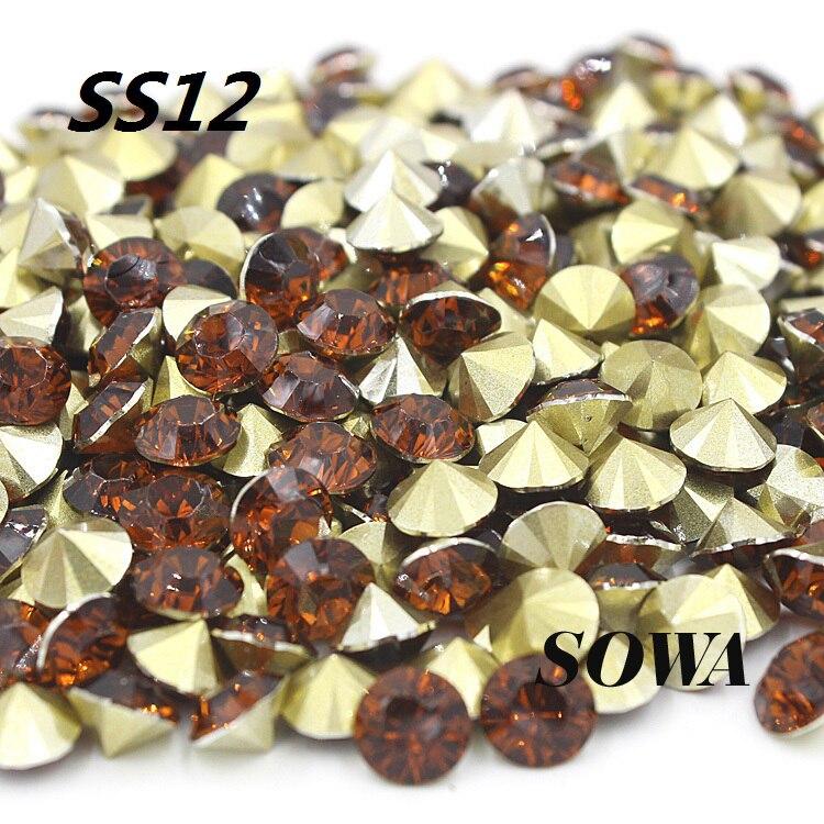 14400 шт./лот SS12 (3.1-3.2 мм) модные коричневые Цвет Смола pointback для Сумки/одежда/Обувь DIY Бесплатная доставка