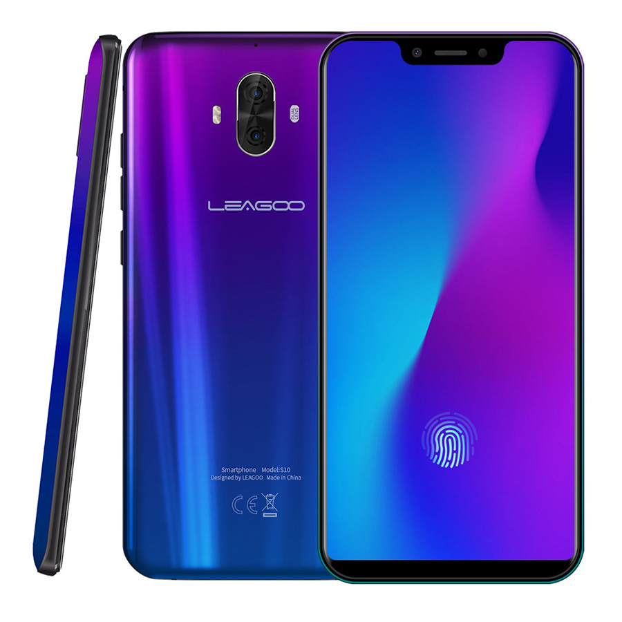 Mondial Version LEAGOO S10 P60 Octa Core 6 gb 128 gb 6.21 19:9 U-Cran Mobile Téléphone 20.0MP 4050 mah 9 v/2A Android 8.1 4g Smartphone