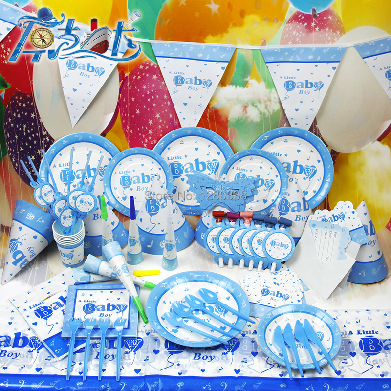 aliexpress  buy pcs/line baby boy theme party paper pennant, Baby shower invitation