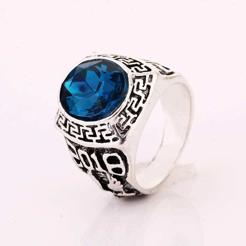 Real Italian men Rings Genuine Austria Crystal Gold Color ...