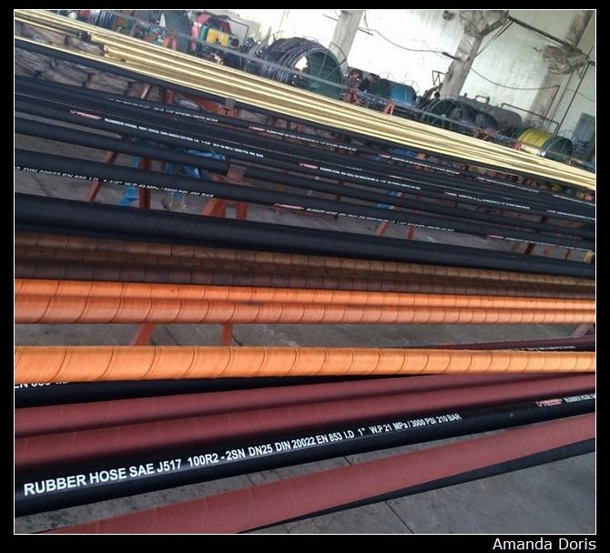 100 метров dn6 1/4 дюйма r1 один стальной провод плетеный гидравлический