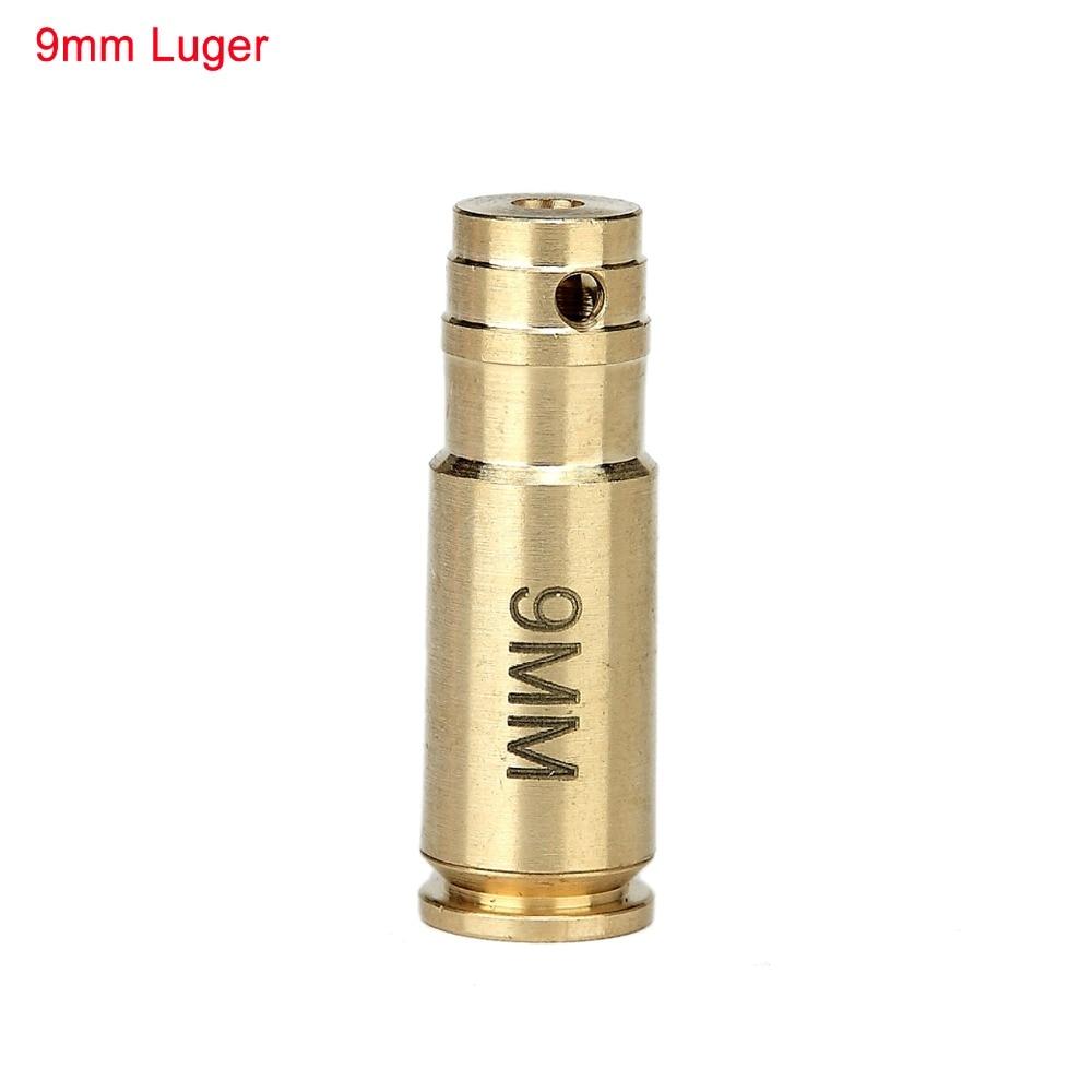 Spike Tactical 9mm Luger 9x19mm Parabellum Pistol Bullet High Quality Brass Cartridge Red Dot Laser Bore Sighter
