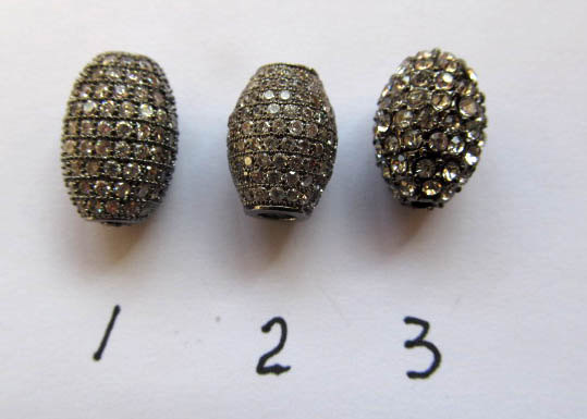 high quality 12pcs 12x16mm Pave Micro Rhinestone Brass Crystal Connector ,Rice Drum Hematite Gunmetal silver gold mix Finding