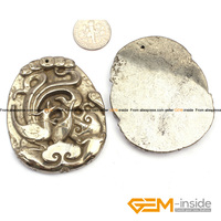 Pyrite Pendant 43x55mm Phoenix Carved Gray Pyrite Beads Natural Pyrite Stone Beads For Pendant Making 1