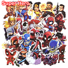 50 Pcs Don't repeat Super Hero Cool Stickers for Laptop Car Styling Phone Bicycles Luggage Motorcycle  PVC Waterproof Sticker