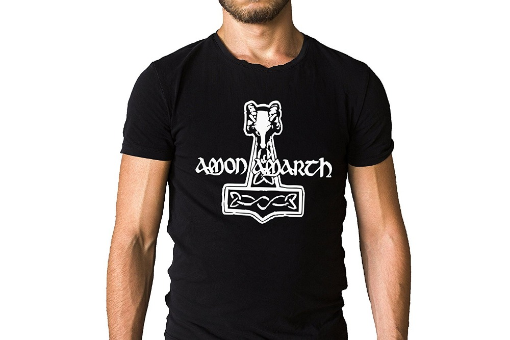 Casual Printed Tee Amon Amarth Swedish Metal Band Thors Hammer