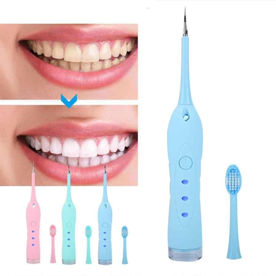 Отбеливание зубов 3 цвета USB Электрический стоматологический скалер для удаления зубной камень Вибрация зубной камень уход за зубами стоматология