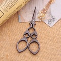 Creative Antique Sewing Scissors Zakka Vintage Stripe Hollow Sewing Supplies 3Cr13 Steel 1PC
