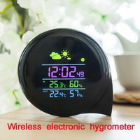 Wireless Electronic Hygrometer Household High Precision Indoor And Outdoor Weather Forecast Bell Alarm Clock XEAST