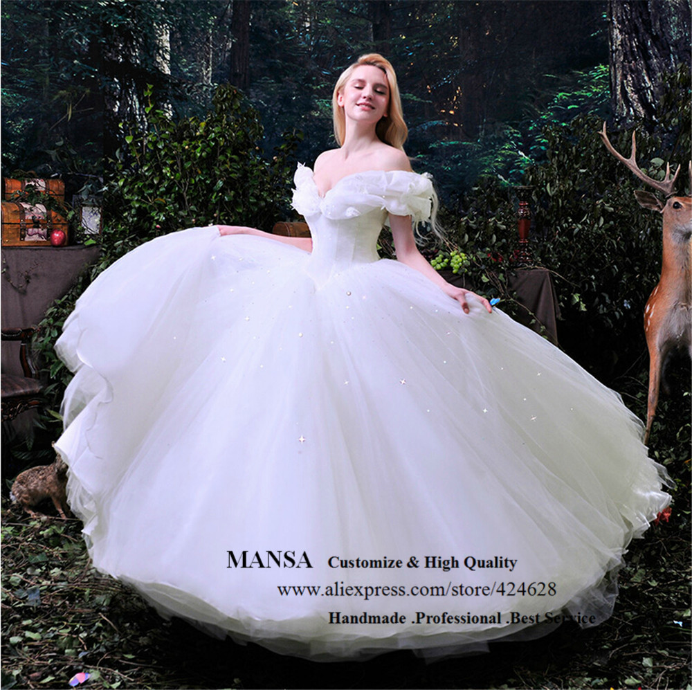 Mansa Cinderella Wedding Dress Costumes Princess Sparkly Dresses Summer Style Bridal Vestidos De Noivas In From