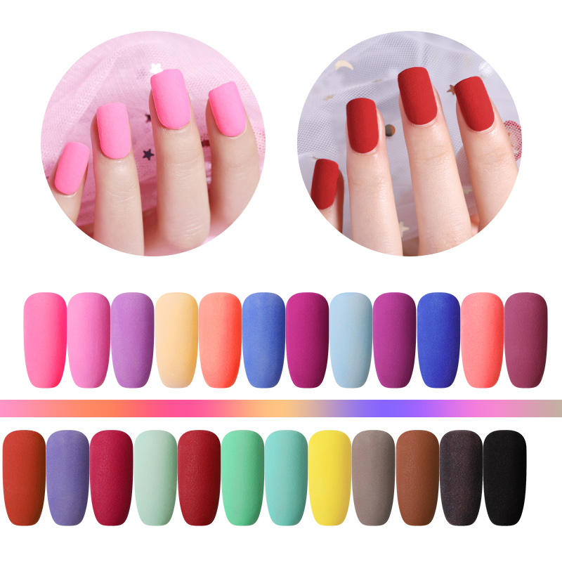 NICOLE DIARY 10g Matte Color Dipping Nail Powder Natural Dry Nail Art Decoration Without Lamp Cure N