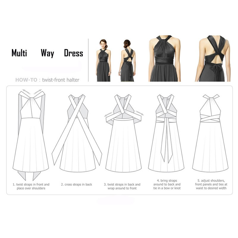 Sexy Long Dress Bridesmaid Formal Multi Way Wrap Convertible Infinity Maxi Dress Navy Blue Hollow Out Party Bandage Vestidos 31