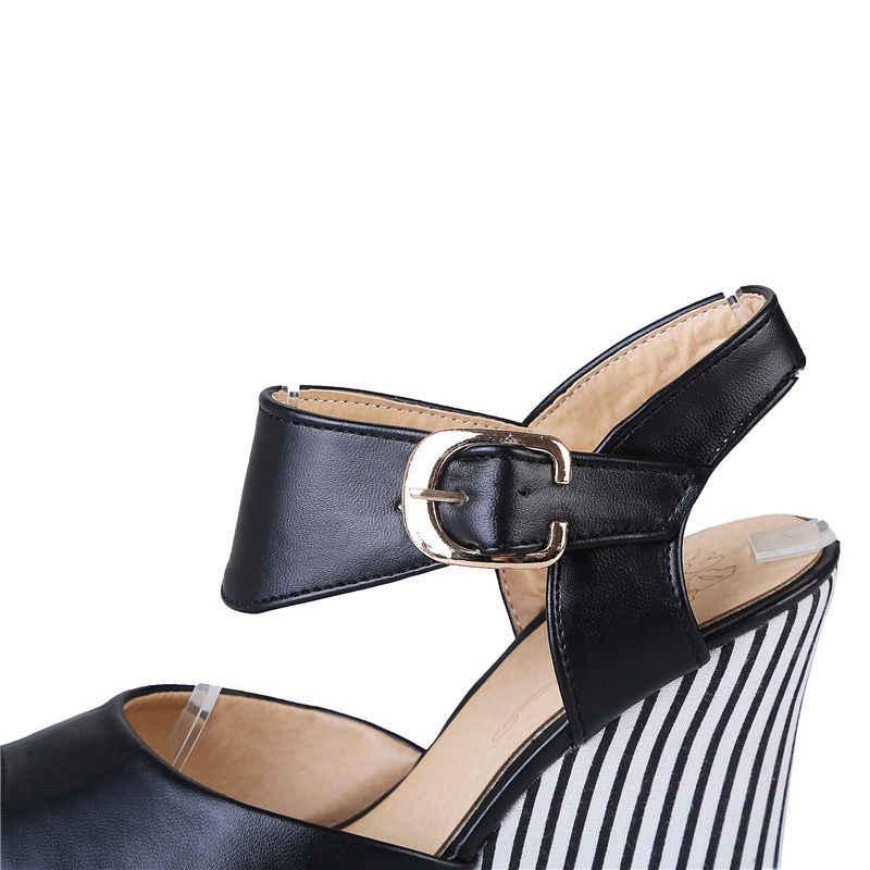 KarinLuna yaz artı boyutu 32-45 kadınlar zarif şemsiye sandalet kalın platform takozlar ayakkabı kadın günlük tarihi ayakkabı
