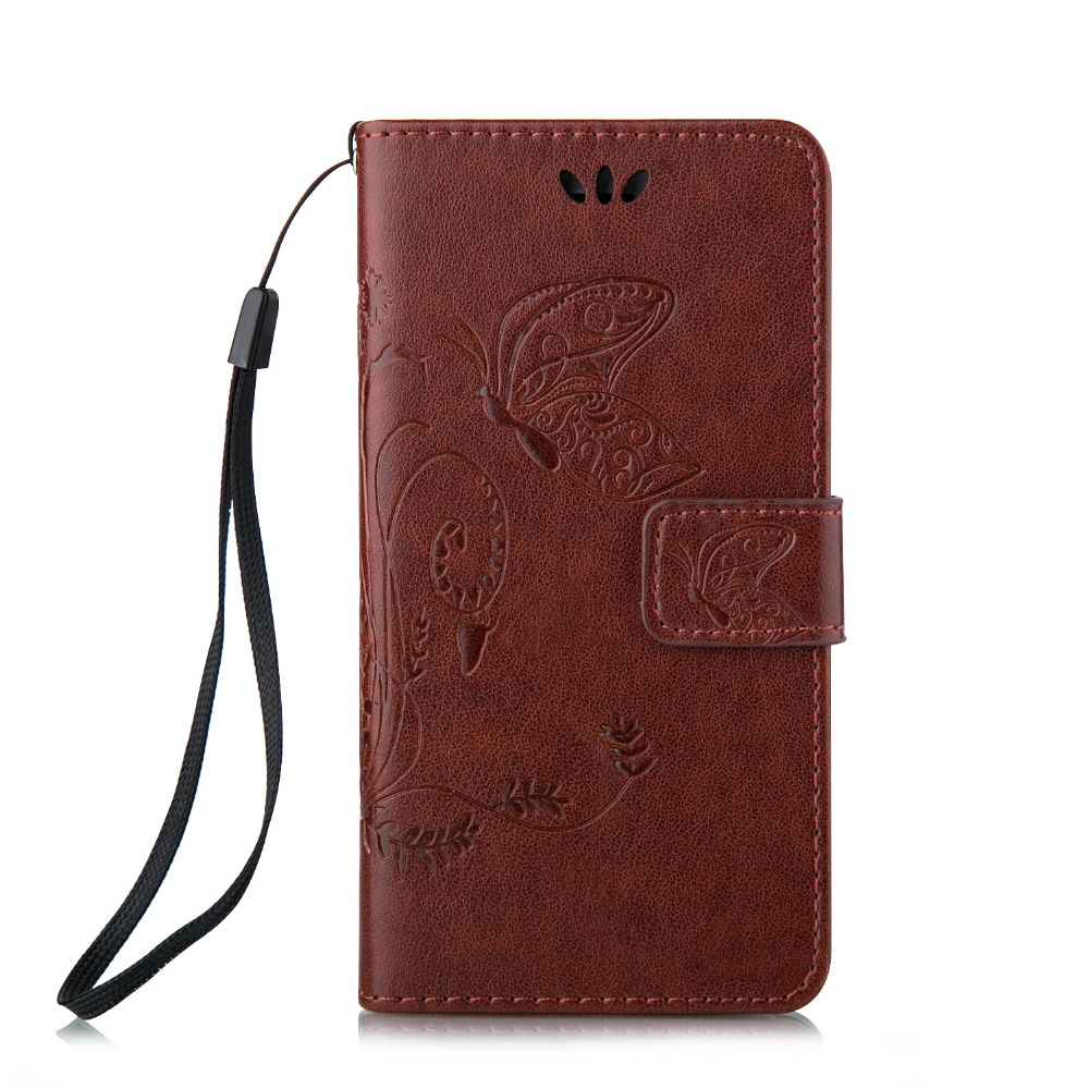 2016 New Fashion Beautiful Butterfly pattern Leather Wallet Cover Case For Apple iphone 5 5s 6 6s aifon 6 / 6s plus handy case