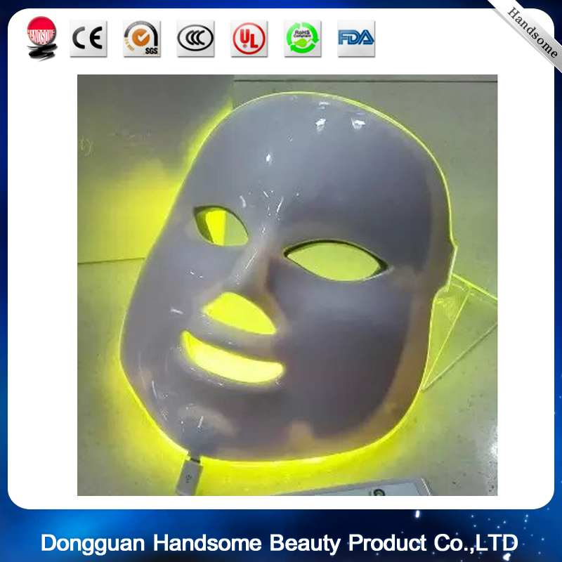 LED PDT Facial Mask 7 Color Photon Facial Mask Wrinkle Acne Removal Beauty Spa Device Skin Rejuvenation White Facial Masker anti acne pigment removal photon led light therapy facial beauty salon skin care treatment massager machine