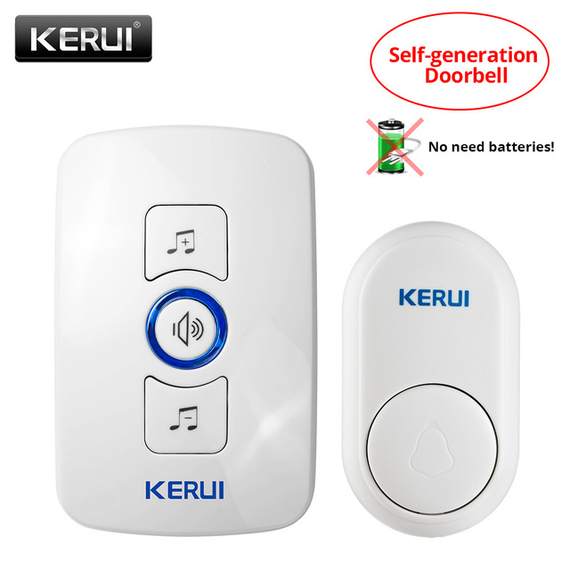 KERUI EU/US/UK plug 32 Songs Optional Waterproof Touch Button Smart Home Welcome Door bell Alarm Intelligent Wireless Doorbell