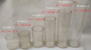 DIY do odlewania świec foremka do świec płaski Cylinder dachowy o średnicy 7 5cm forma na świeczkę do ręcznie robionej bezpłatnej wysyłki tanie i dobre opinie Akrylowe