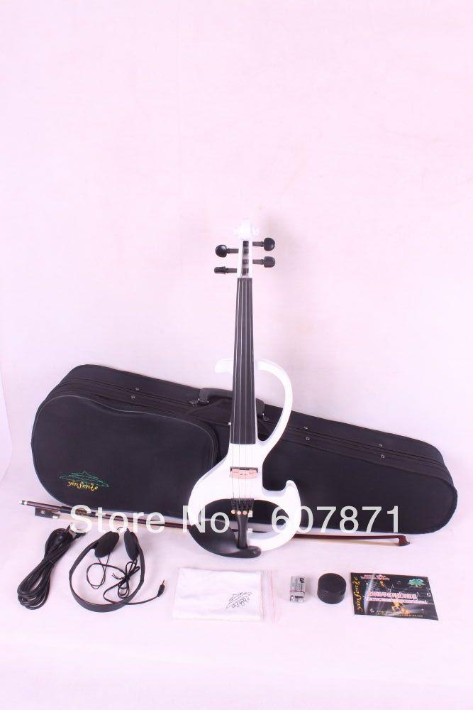New 4/4 Electric Violin Silent Pickup white Color tone  4 strings intex