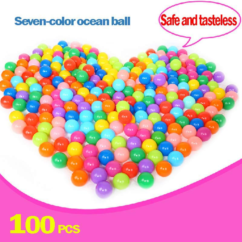 Baby Playpen Pool Balls 100pc Wholesale Ball Pit Balls Colored Plastic Balls Fencing For Children Daby