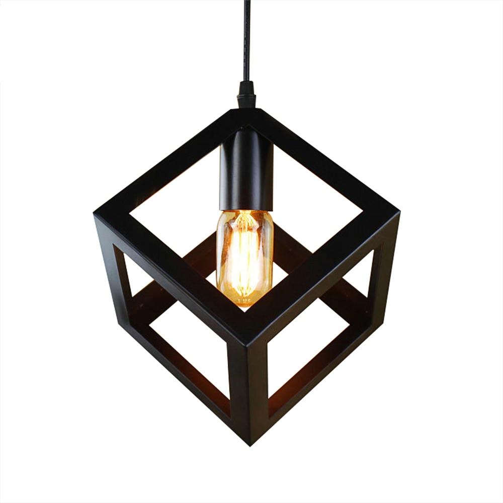 Pendant Lamp American Village Square Pendant Creative Living Room Light Loft Of The Quartet Iron Lighting