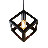 Pendant Lamp American Village Square Pendant Creative Living Room Light Loft Of The Quartet Iron Lighting