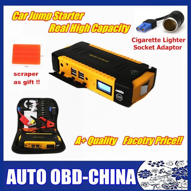 New Design Super Capacity 16000mah Car Jump Starter battery 12V Petrol Diesel Starting Devi Compass SOS Lights