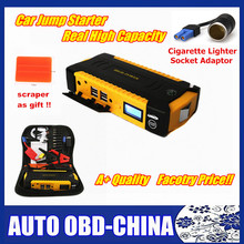Neue Design 16000 mah Super Kapazität Multifunktions 12 V Auto Starthilfe 4USB Energienbank Kompass SOS Lichter auto Ladegerät(China (Mainland))