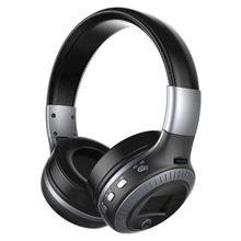 Good quality Original Zealot B19 LED screen Stereo  Headset Bluetooth headphones Headband Headsets with FM TF for mp3 player