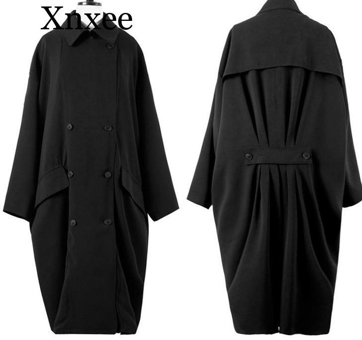 Xnxee Women   Trench   Coat Loose Plus Size   Trench   coats Bat Sleeve Coat Long Windbreaker Women Winter Coats Wholesale Free Size
