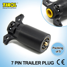 Tirol T21847c7 Pin Trailer Plug 7 Way Blade Round Connector Plug RV Parts Male 12V Tow bar Towing – Trailer End Free Shipping