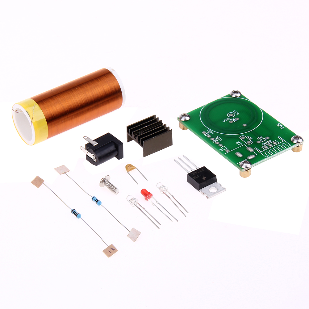 12V DC Tesla Transformer Bobina DIY Tesla Coil Kit Wireless Electric Trasmission Hand Combination Board