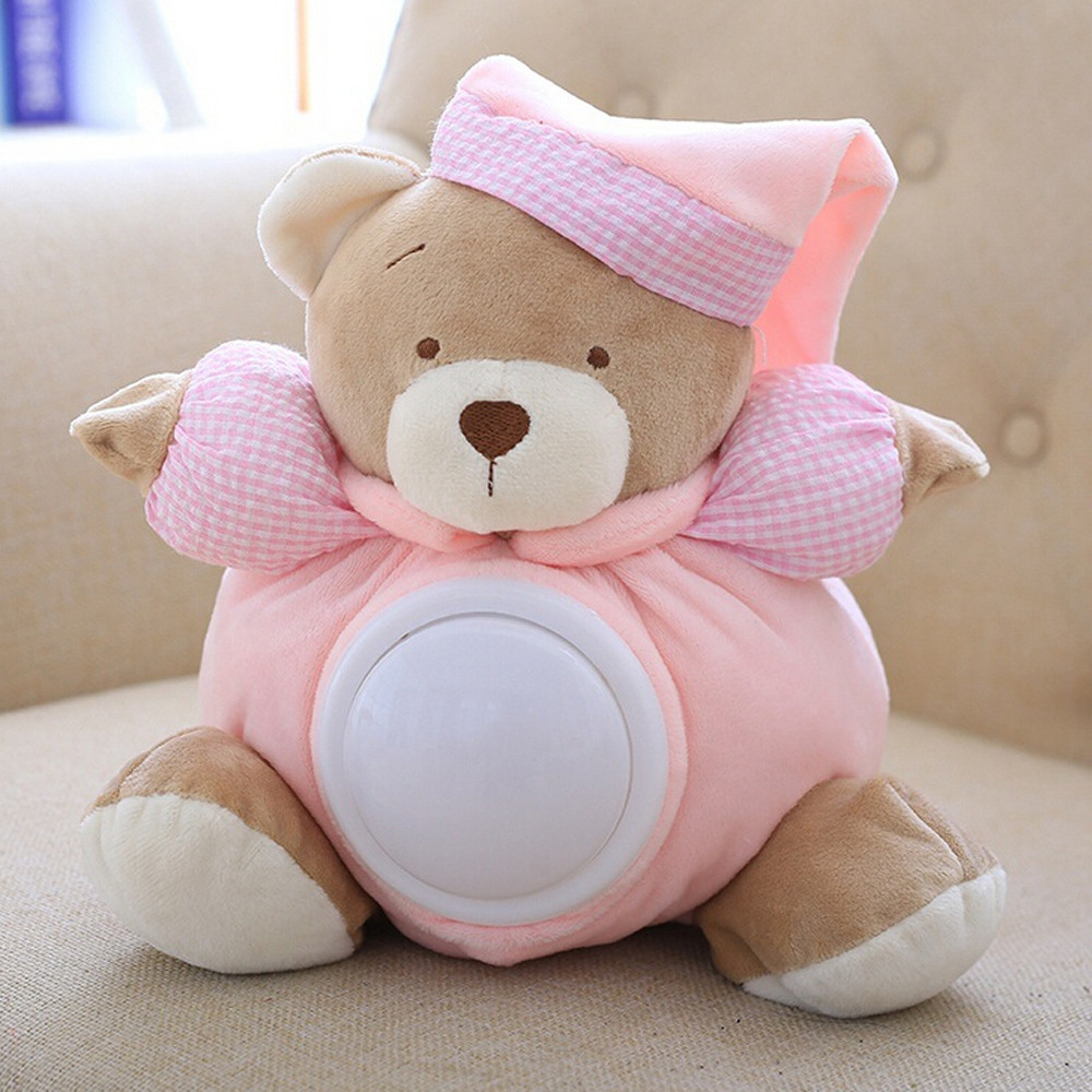30cm Bear Cartoon Plush Toy Cute Music Bear Doll Stuffed Interactive Toys Education Toy Baby Toys & Games Children