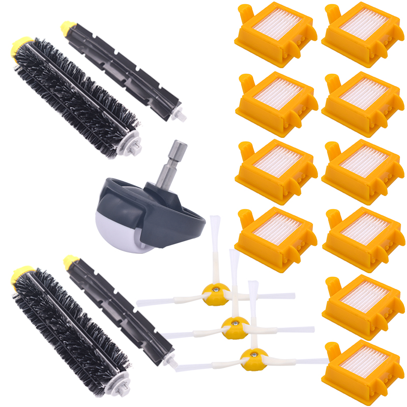 Roomba Bristle Spare Parts Set Flexbile Percussion Side Brush Hepa Filter for Irobot Roomba 700 Serie vacuum cleaner accessories 14pcs free post new side brush filter 3 armed kit for irobot roomba vacuum 500 series clean tool flexible bristle beater brush