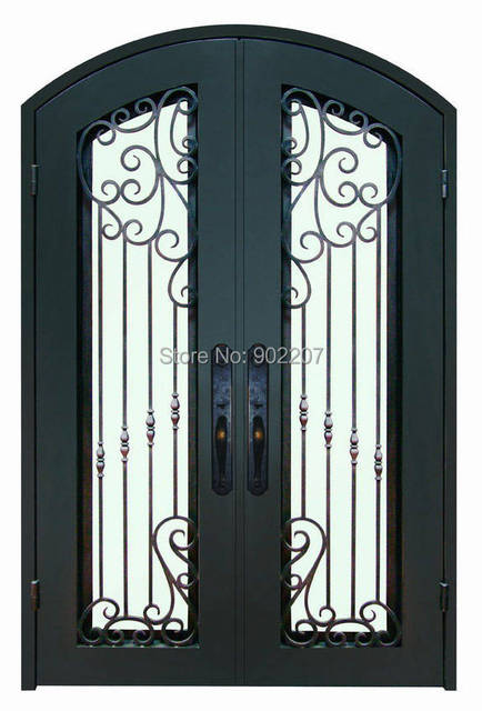 Aliexpress Buy Wrought Iron Entry Door Manufacturer Model Hench Ied12 From Reliable Iron Entry Door Suppliers On Shanghai Henchuang Industry