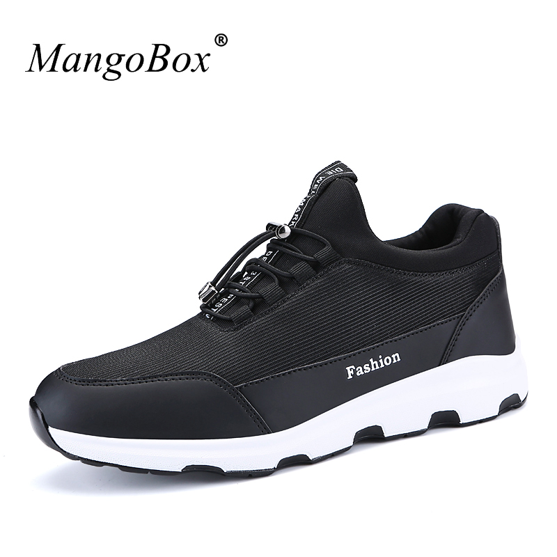 Running Shoes for Mens Runners Elastic Band Men Sport Sneakers 2018 Comfortable Original Shoes Spring Autumn Trainers Male ...
