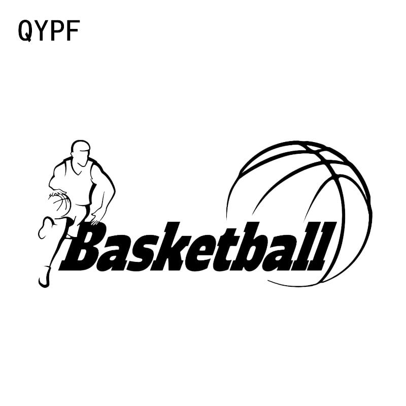 QYPF 15.6*6.9CM Fashion Basketball Movement Car Styling Vinyl Sticker High Quality Decor Accessories C16-0467