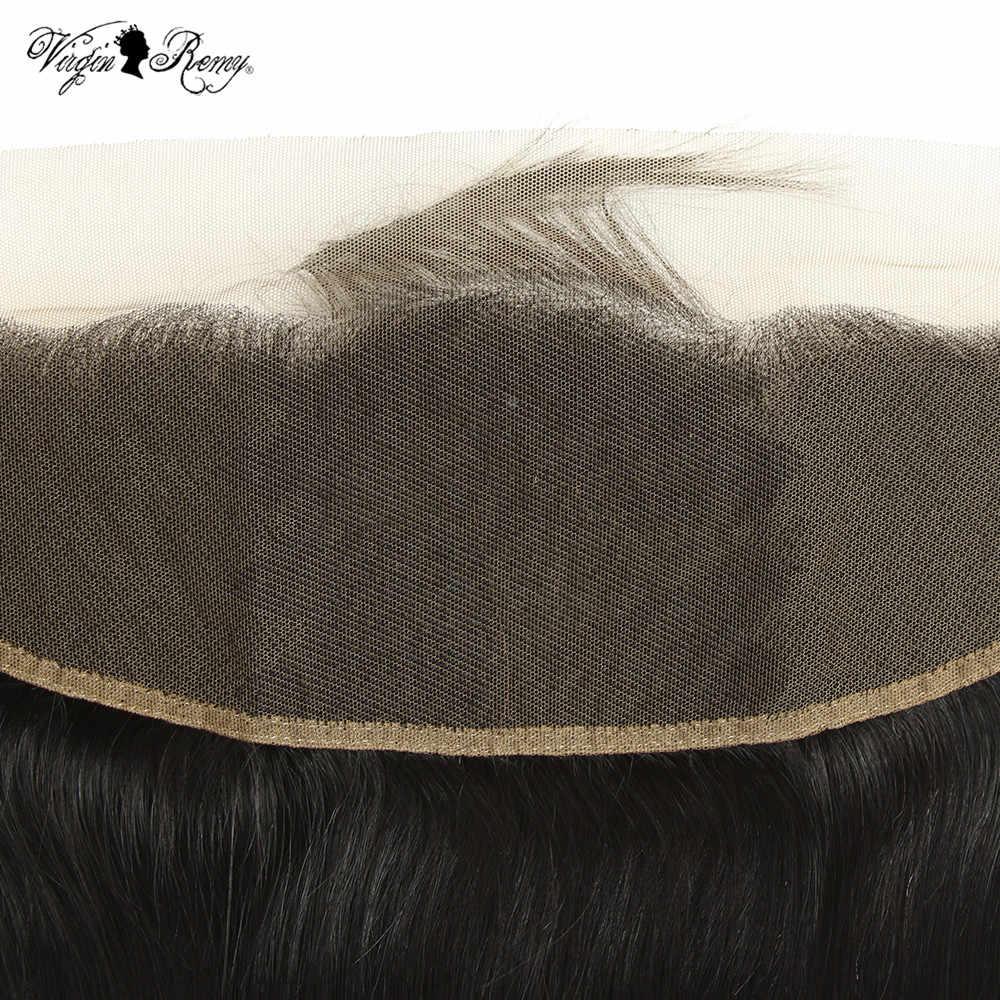 """Queen Virgin remy Волосы Бразильские свободные волны 13*4 Кружева Фронтальная свободная часть человеческие волосы закрытие 150% Плотность 10-20 """"натуральный цвет"""