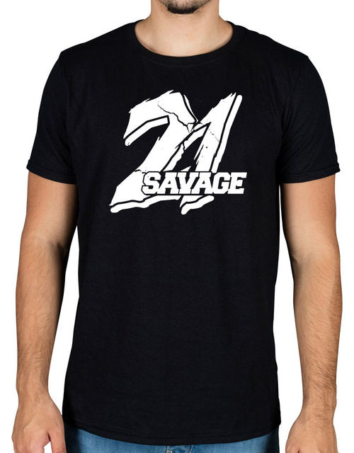 a5ea35fa9ce3 21 Savage Large Logo T-Shirt Red Opps Slaughter Gang Savage Mode Cool T-Shirts  Designs Best Selling Men