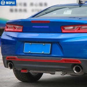 Image 4 - Mopai estilo do carro abs cauda carro amortecedor traseiro placa decoração guarnição adesivos para chevrolet camaro 2017 up acessórios do carro