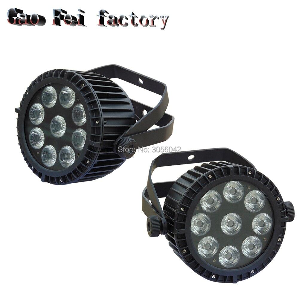 2pcs/lot 9x18W led par light waterproof ip65 spotlight rgbwa lights for