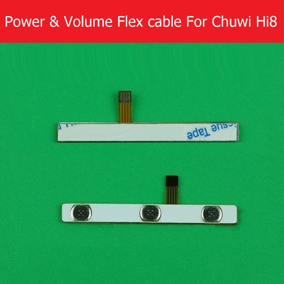 Genuine on / off Power Flex cable For Chuwi Hi8 power switch button flex cable For Hizee H8G Newsmy N81 Volume flex cable 5pcs lot high quality 2 pin snap in on off position snap boat button switch 12v 110v 250v t1405 p0 5