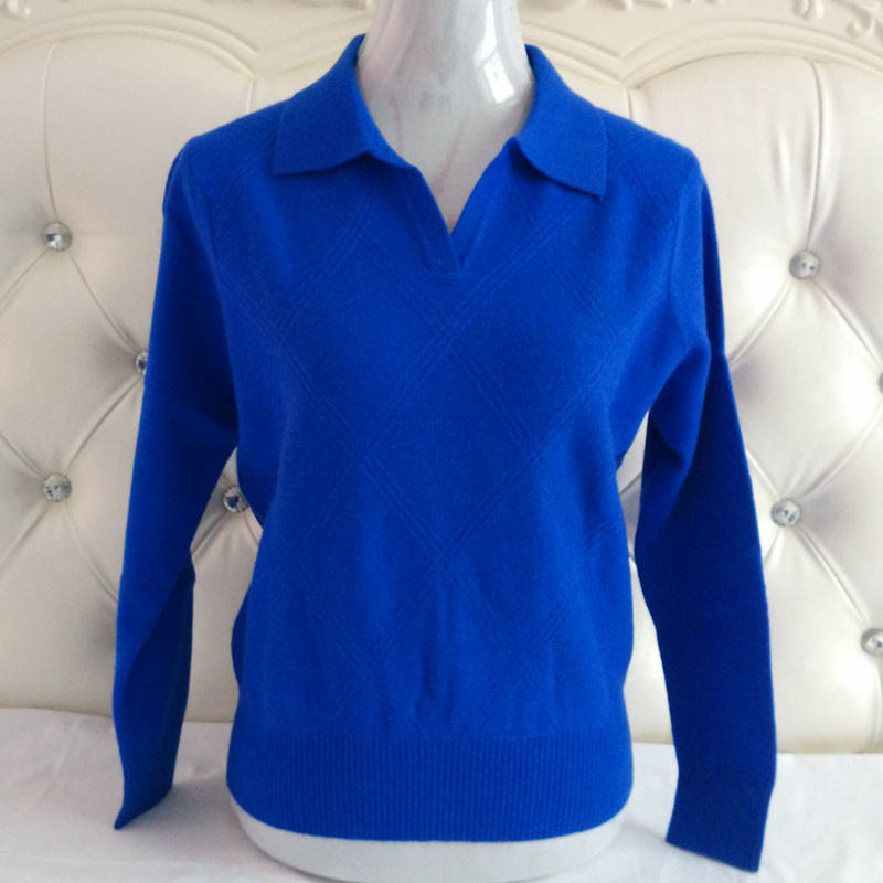 super large size 100%goat cashmere women's sweater pullover  turn-down collar basic style for mum M/95-6XL/130