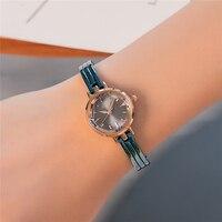 KIMIO Blue Bracelet Watch Women Small Round Dial Quartz Watches Famous Brand Fashion Wrist Watches For