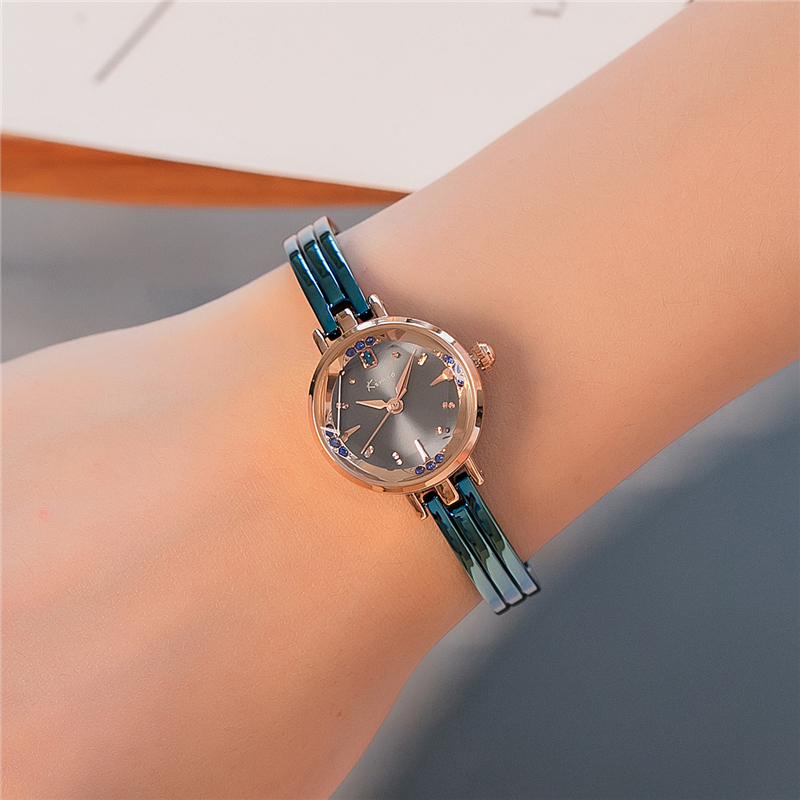 KIMIO Blue Bracelet Watch Women Small Round Dial Quartz Watches Famous Brand Fashion Wrist Watches for Ladies zegarki damskie 2016 hot sale fashion women wallets 6 colors matte pu leather zipper soft wallet ladies long clutch purse phone bag card holder