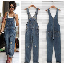 2017 Women Jeans Overalls Summer Fashion Hole Vintage Freddy Jeans Loose Slim Long Pants Hip hop Denim Rompers Push up Jeans z15