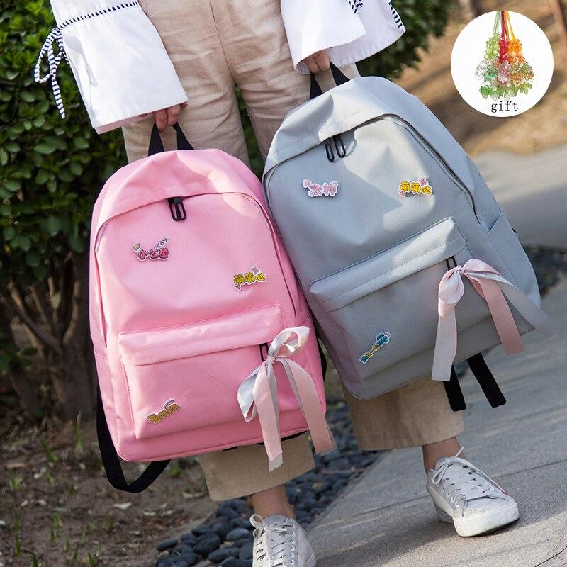 Tuladuo Canvas Backpack Female School Backpack