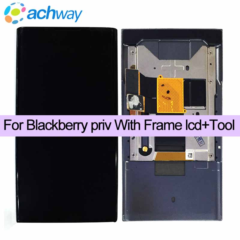 100 New Tested 5 4 For BlackBerry Priv LCD Display Touch Screen Digitizer Assembly With Frame
