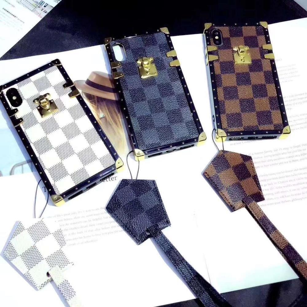 Urmwing телефон чехлы для iphone x 7 8 плюс Винтаж Роскошные ТПУ кремния Мода квадратный решетки для iPhone 6 S Мягкая обложка ...